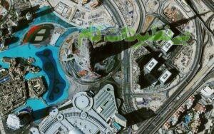 تصویر هوایی از برج خلیفه
