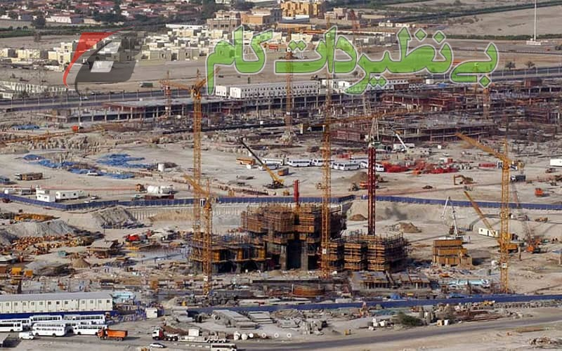 کارهای مقدماتی ساخت برج خلیفه